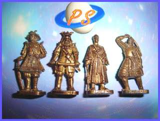 KINDER SURPRISE METAL SET   JAPANESE SAMURAI RP BRASS