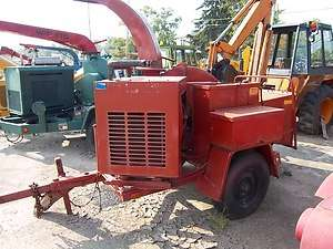 Morbark wood chipper ford ind. gas motor , 10 log, hdy feed