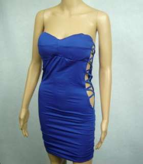 D367 Womens Sexy Tube Top Padded Clubbing Dress 8 10