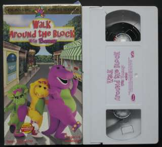With Barney Dinosaur VHS Video Tape Children Classic Movie