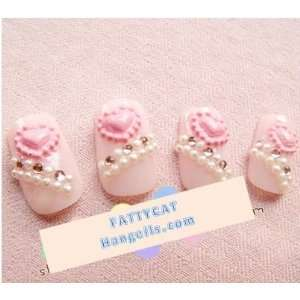 FASHION JAPANESE 3D NAIL ART Love Pink 24 nails Sold By