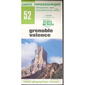 Map 52 France Grenoble Valence Carte Topographique: none