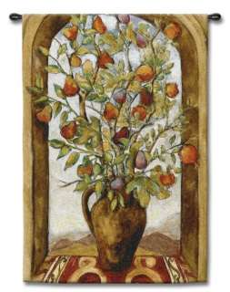 TUSCAN ARCH WINDOW VIEW TREE ART TAPESTRY WALL HANGING