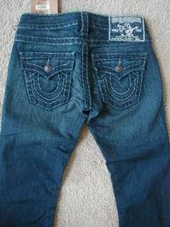 NWT True Religion Billy Super T Jeans Del Mar Medium
