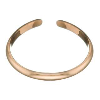 Rose Gold Plated Polished Adjustable Size Thin Toe Ring