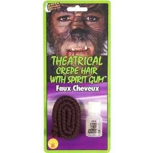 Dark Brown Theratrical Crepe Hair w/ Spirit Gum