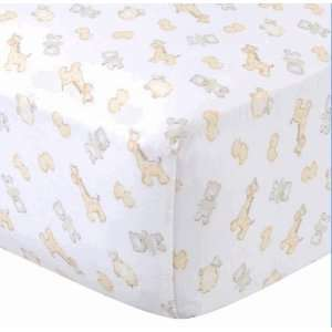 Gerber Crib Sheet   Animal Baby