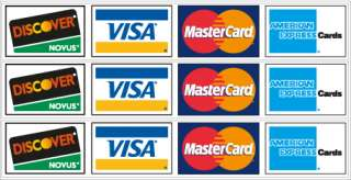 Credit Card Logos #1 Vinyl Decal Sticker Set Gloss Laminated   3 logos