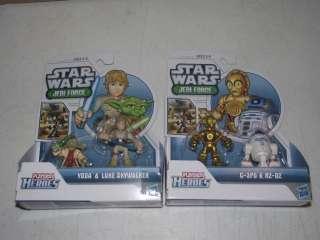 STAR WARS JEDI FORCE HEROES Luke + Yoda C3PO + R2D2 PLAYSKOOL