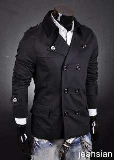 SWM Designer New Mens Military Jacket Coat Black S8006