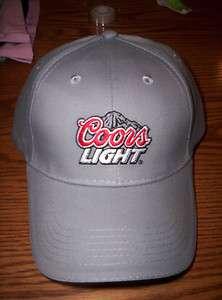 New grey COORS LIGHT baseball cap / hat