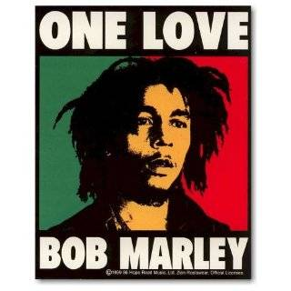 Bob Marley   One Love Decal   Sticker Automotive