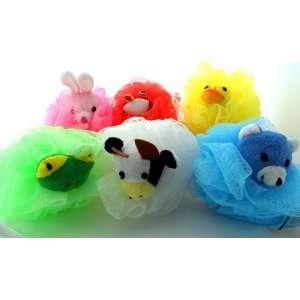 Stuffed Animal Kids Mesh Sponge Bath Toy   Bath Toys for Boys and Bath