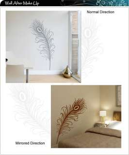 Peacock Feather Vinyl Art Wall Stickers / Wall Decals