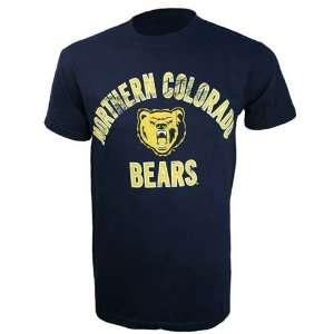 Northern Colorado Bears Arch Name and Logo T Shirt (Blue