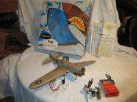 FLYING TIGER AIRPLANE THIMBLE DROME TETHER CONTROL LINE IN BOX