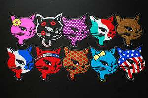 Winking Kitty Cat STICKER 80s & 90s Vending Cool Lady Lucky Sexy Head