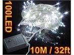 100 LED String Fairy Light Lamp Halloween Christmas 5W 110V White US