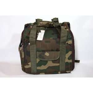 Casual Canine Camo Backpack Carrier Med