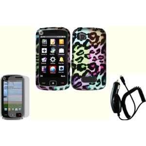 Bright Colorful Leopard Design Hard Case Cover+LCD Screen