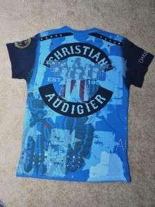 Christian Audigier Rhinestone Men Shirt Ed Hardy L NEW