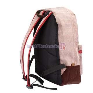 New Zipper Closure School Backpack Bag Bookbag Travel Bag Linen 7