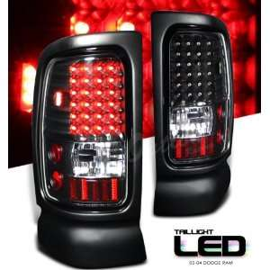 02 03 04 05 DODGE RAM 1500 2500 PICKUP TRUCK FULL LED TAIL LIGHT BLACK