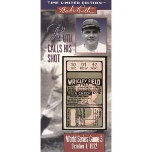 Time Limited Edition 1932 World Series Game 3 Ruth Calls