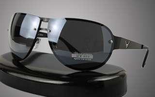 Mens Sunglasses New Black Steel Chrome Brown Full Top Modern Shades