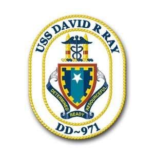 US Navy Ship USS David R. Ray DD 971 Decal Sticker 3.8 6