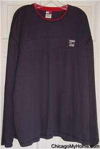 Tommy Hilfiger Mens Navy Blue Cotton V Neck Sweater XL
