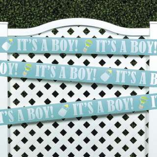 Plastic It's A Boy! Decoration Tape Baby shower Banner