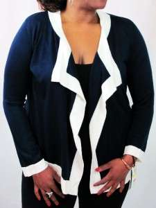 Mercer Street Studio Womens So Soft Open Front Cardigan Sweater