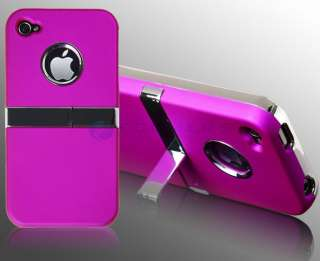 Crystal Pink Aluminium Hard Case Cover iPhone 4S 4G + Free Screen Film