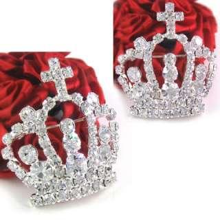 Princess Crown Tiara Austrian Crystal Pin Brooch P483