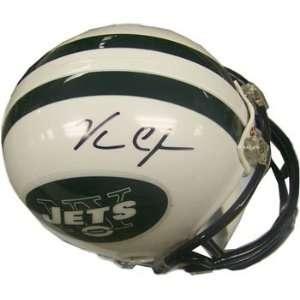 Vernon Gholston Autographed New York Jets Mini Helmet