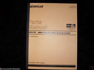 Caterpillar 305CR Mini Hydraulic Excavator Parts Manual