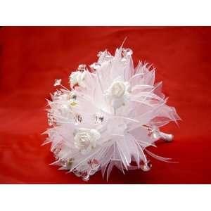 Mini White Crystal Bridal Bouquet
