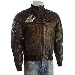 Ed Hardy Mens Dead or Alive Leather Jacket  Overstock