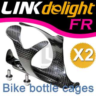 2X Carbon Fiber Bike Water Bottle Holder Cage 28g DB910