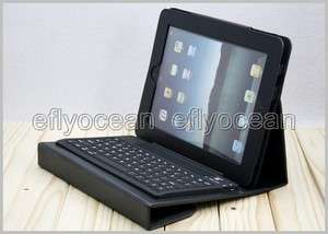 Black Bluetooth Wireless Keyboard For Apple iPad 2+ Leather Case
