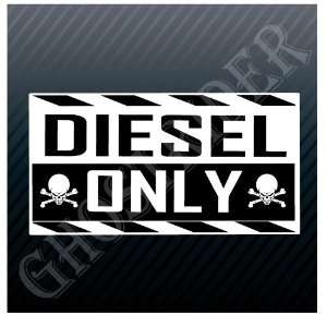 Diesel Only Gasoline Station Sign Skulls Crossbones