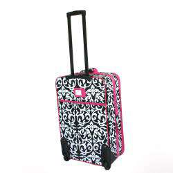 World Traveler 3 piece Damask Expandable Luggage Set