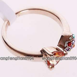 CZ 18Kt Gold Plated Cute Fish Fashion Ring 094724