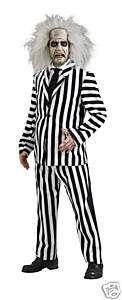 BEETLEJUICE DELUXE mens funny halloween costume XL