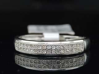 10K WHITE GOLD DIAMOND WEDDING BAND ENGAGEMENT BRIDAL RING SET