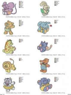 Baby Applique Machine Embroidery Collection Baby Animal
