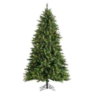 Hard Needle Cascade Fir Full Pre Lit Christmas Tree Christmas Decor