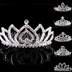 SHIPPING BIG rhinestone crystals hair comb tiara bridal wedding