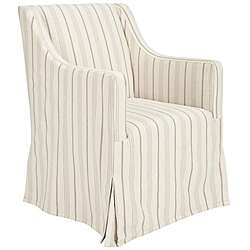 Cottage Slipcover Beige Living Room Chair